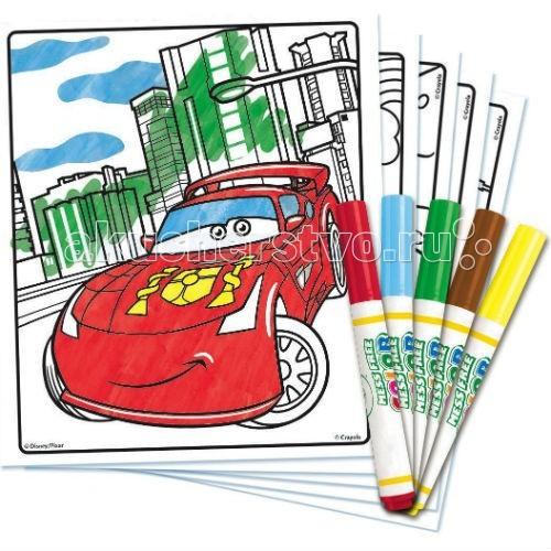 Раскраска Crayola Набор с раскраской и фломастерами Тачки Color Wonder