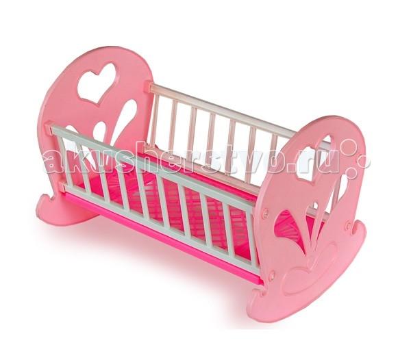 Кроватки для кукол Огонек качалка детские кроватки papaloni vitalia качалка 125х65