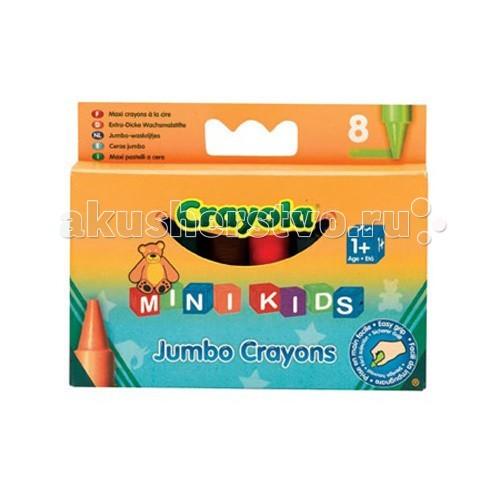 Карандаши, восковые мелки, пастель Crayola Мелки Mini Kids восковые для самых маленьких 8 шт. crayola набор восковых мелков для малышей