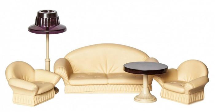 Кукольные домики и мебель Огонек Набор мягкой мебели для гостиной Коллекция для гостиной