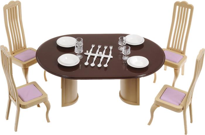Кукольные домики и мебель Огонек Набор мебели для столовой Коллекция набор мебели для прихожей пикассо 4