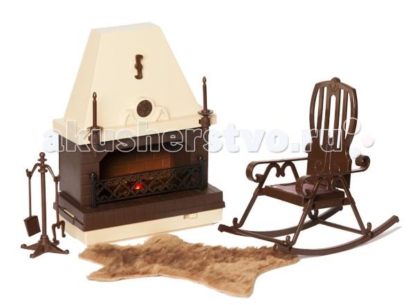 Кукольные домики и мебель Огонек Набор мебели для каминной комнаты Коллекция аксессуары для кукол огонек мебель малыш
