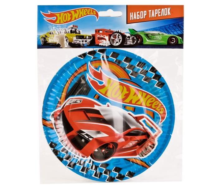 Товары для праздника Веселый праздник Набор тарелок Hot Wheels 6 шт.