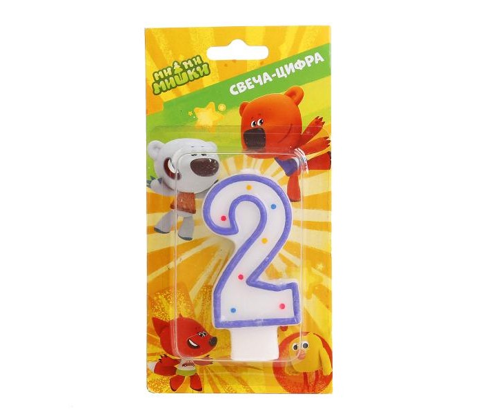 Товары для праздника Веселый праздник Свеча-цифра Мими Мишки № 2 набор для проведения детского праздника веселый день рождения