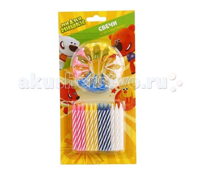 Товары для праздника Веселый праздник Набор свечей для торта Мими Мишки 24 шт. набор для проведения детского праздника веселый день рождения