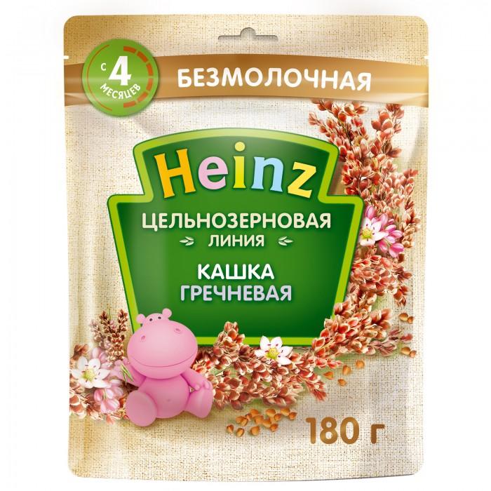 Каши Heinz Кашка цельнозерновая гречневая с 4 мес. (пауч) каши heinz безмолочная пшенично овсяная каша с фруктиками с 6 мес 200 г