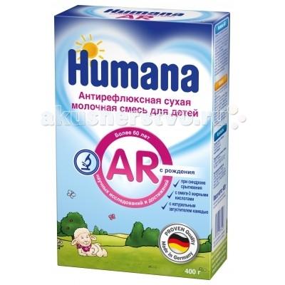 Молочные смеси Humana Заменитель Антирефлюкс с 0 мес. 400 г молочные смеси humana заменитель expert 1 с рождения 350 г