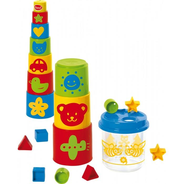 Развивающая игрушка Gowi Ведерко-пирамидка 21 предмет