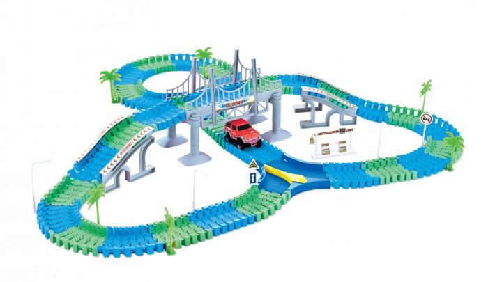 Машины 1 Toy Гибкий трек Мегаполис (216 деталей)