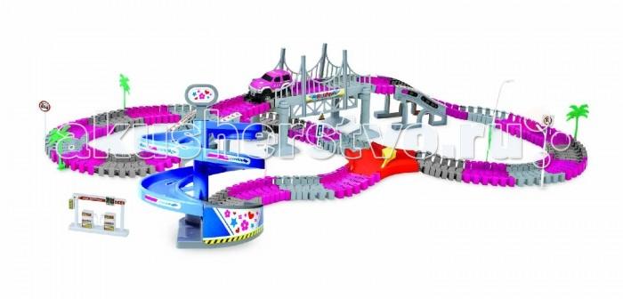 Машины 1 Toy Гибкий трек Мегаполис (239 деталей)