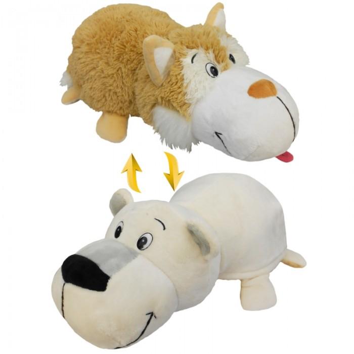 Мягкая игрушка 1 Toy Вывернушка Бежевый хаски-Полярный медведь 2 в 1 40 см