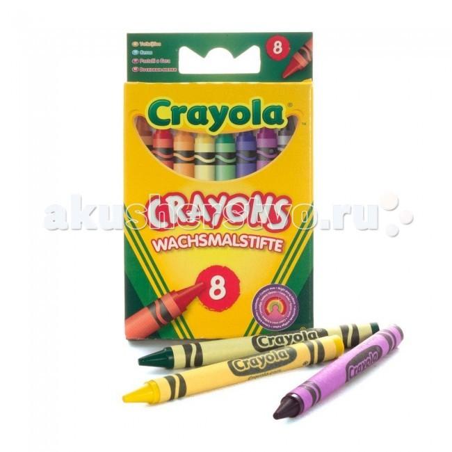 Карандаши, восковые мелки, пастель Crayola Мелки восковые для самых маленьких 8 шт. crayola мелки восковые треугольные смываемые 16 шт