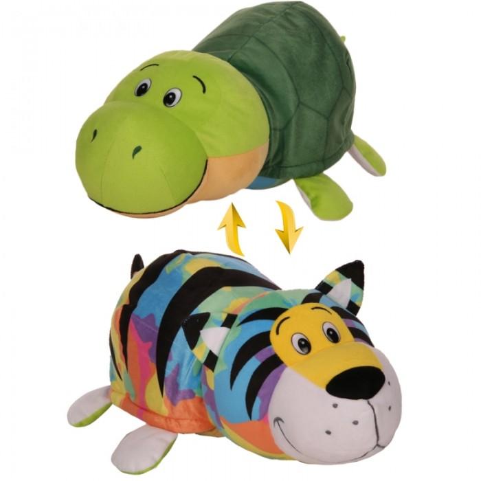 Купить Мягкие игрушки, Мягкая игрушка 1 Toy Вывернушка Радужный тигр-Черепаха 2 в 1 40 см