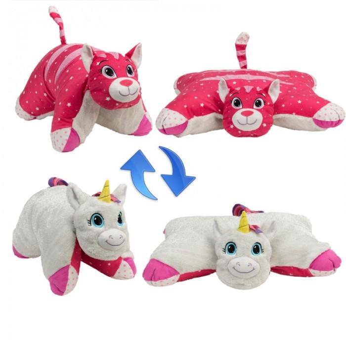Мягкая игрушка 1 Toy Вывернушка Белый Единорог-Розовая Кошечка 2 в 1