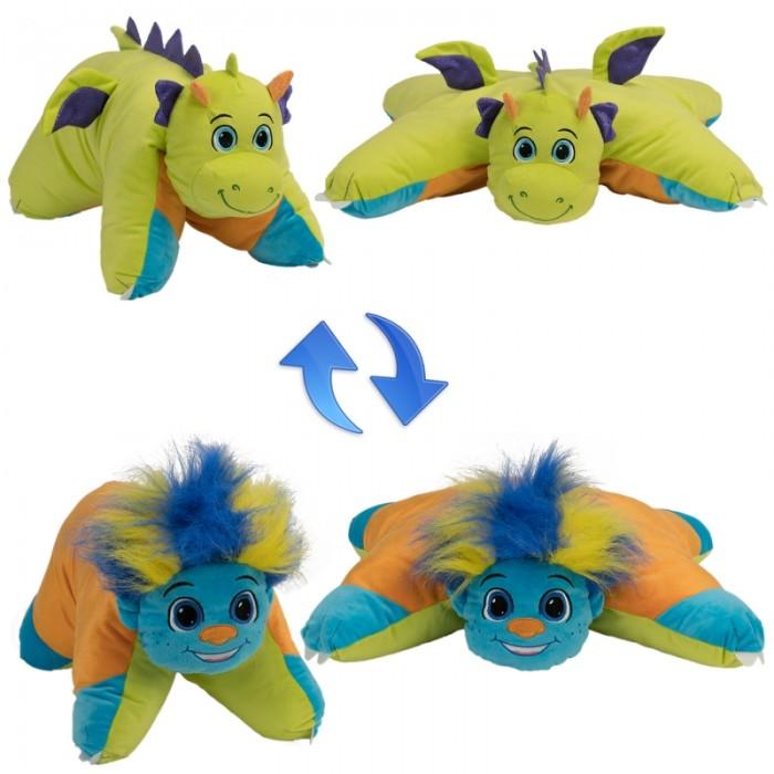 Мягкая игрушка 1 Toy Вывернушка Разноцветный Тролль-Салатовый Дракон 2 в 1