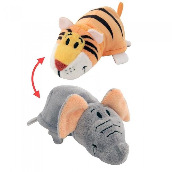 Купить Мягкие игрушки, Мягкая игрушка 1 Toy Вывернушка Тигр-Слон 2 в 1 35 см