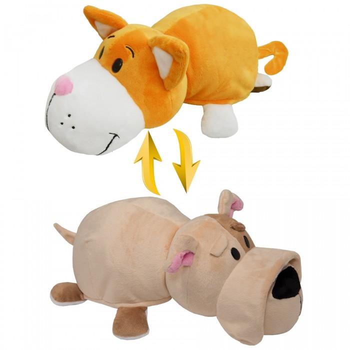 Мягкая игрушка 1 Toy Вывернушка Оранжевый кот-Бульдог 2 в 1 35 см