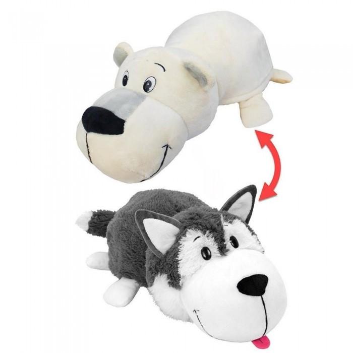 Мягкая игрушка 1 Toy Вывернушка Хаски-Полярный медведь 2 в 1 40 см