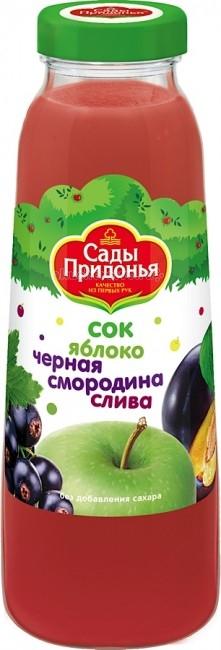 Соки и напитки Сады Придонья Сок Яблоко, черная смородина, слива с 8 мес. 300 мл сады придонья сок яблоко черная смородина с 5 мес