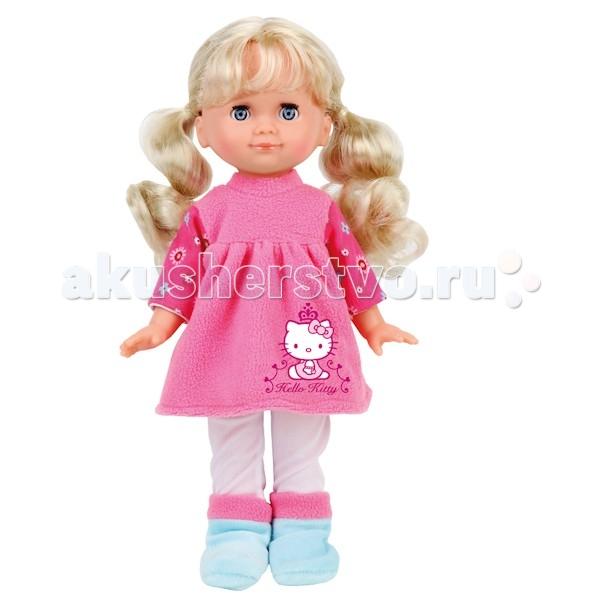 Карапуз Hello Kitty 30 см 13538AКуклы и одежда для кукол<br>Кукла Карапуз Hello Kitty 30 см ведет себя совсем как настоящий ребенок.   Во время игры в дочки-матери девочка научится заботе и попробует роль, которую ей предстоит выполнять в будущей, взрослой жизни.   Особенности: Одета куколка очень стильно, ее наряд украшает изображение известной по всему миру героини одноименного мультика Хелло Китти.  Куколка – большая умница, она рассказывает стихи, поет веселую песенку и говорит 50 фраз, поэтому станет отличной собеседницей и подругой для вашей девочки.  У куколки шикарные, слега вьющиеся волосы, которым требуется постоянные забота и уход. В комплекте вы найдете розовую массажную расческу. Не забывайте причесывать куколку по утрам и делать ей модные прически.  Одежда с куколки снимается, поэтому при желании вы можете придумать ей новый яркий костюмчик.