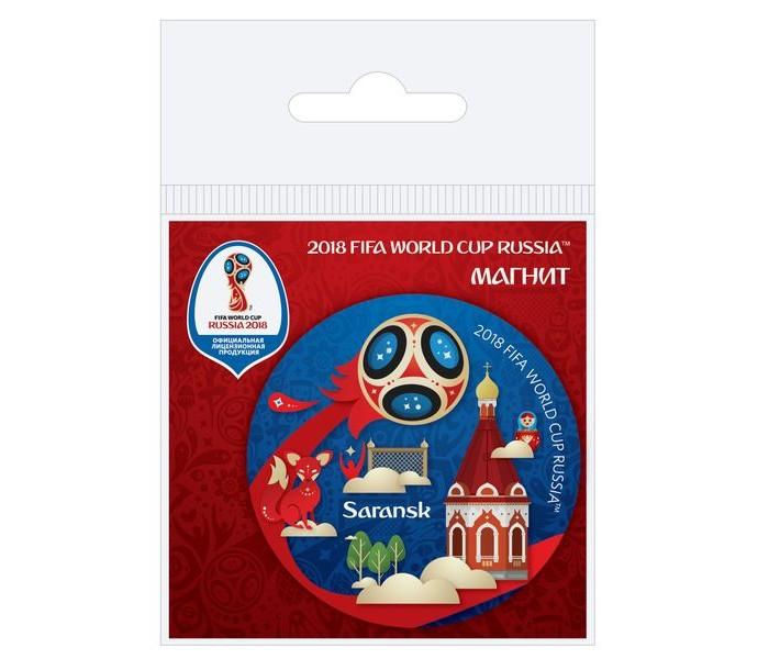 Сувениры к ЧМ по футболу 2018 FIFA World Cup Russia Магнит виниловый Саранск