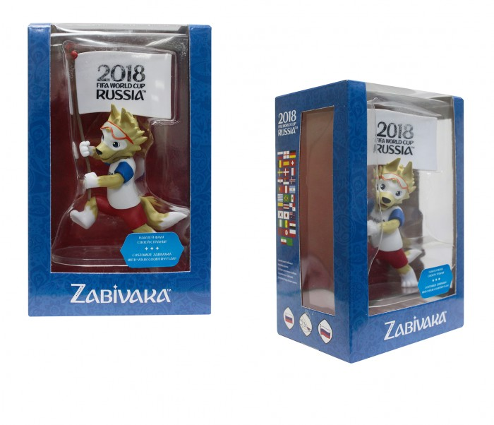 Сувениры к ЧМ по футболу 2018 FIFA World Cup Russia Фигурка Zabivaka Знаменосец 9 см фигурка funko pop television stranger things hopper 9 5 см