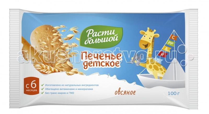 Печенье Расти большой Печенье Овсяное с 6 мес. 100 г печенье расти большой печенье детское с 6 мес 60 г