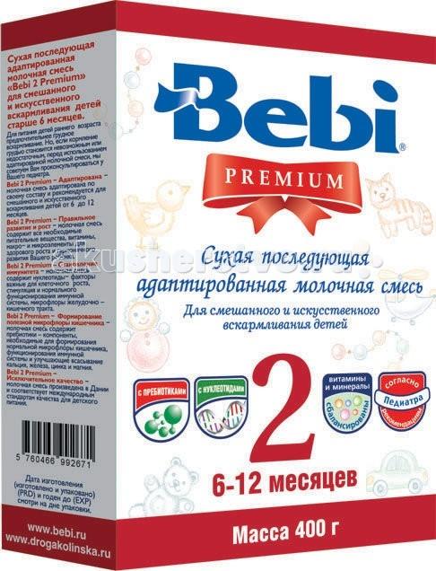 Молочные смеси Bebi Заменитель Premium 2 с 6 мес 400 г (картон) каша bebi premium злаки с малиной и вишней для активного дня с 6 мес 200 гр мол