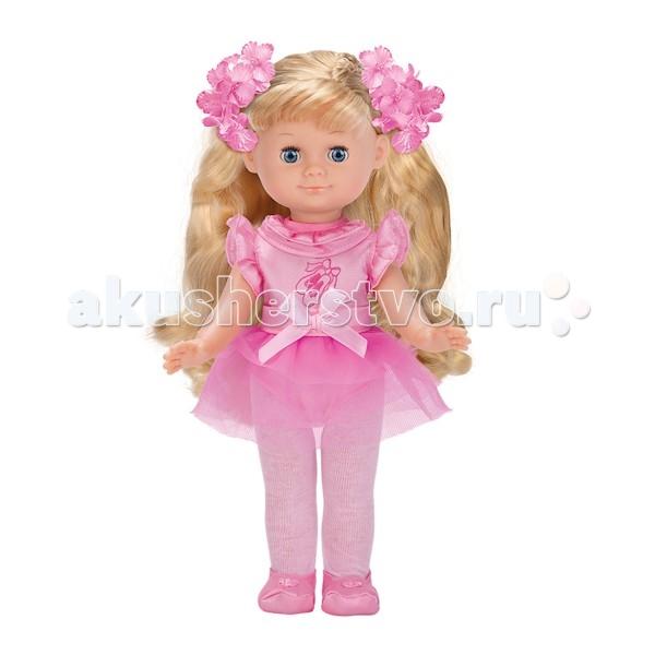 Карапуз Кукла Балерина 30 смКукла Балерина 30 смКукла Карапуз Балерина (5 песен) станет любимой в коллекции вашей малышки.   Во время игры в дочки-матери девочка научится заботе и попробует роль, которую ей предстоит выполнять в будущей, взрослой жизни.   Особенности: Кукла одета в милый костюм балерины.  У куколки красивые волосы, их можно расчесывать и делать различные прически. Нажми на кнопку на груди куколки, и она споет 5 любимых песен на музыку композитора в. Шаинского. Вы сможете петь и танцевать вместе!<br>