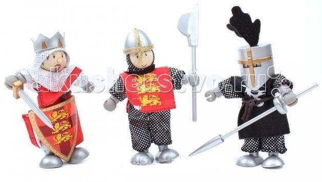 LeToyVan Набор РыцариНабор РыцариLeToyVan Набор кукол Рыцари.  Миниатюрные дизайнерские куколки, более 80 самых разных человечков с индивидуальным характером исполнения.  Королевская семья, волшебники и феи; отважные рыцари и морские пираты, фигурки-профессии футболисты, повар, уборщица, официантка, британский гвардеец и другие; персонажи из истории, фантазийные герои и герои сказок; ангелы, танцовщицы и много других. Смотреть всех героев Budkins.  Вы сможете подобрать куклу и подарить ее ребенку и даже взрослому. Деревянные куколки с одеждой из ткани. Ручки и ножки гнутся. Индивидуальная подарочная упаковка. Подарок для ребенка, красивый сувенир для взрослого, пополнение для коллекционерa. Каждая кукла по особенному индивидуальна. Одета в очень красивую одежду с аксессуарами и атрибутами.  В куклы можно играть сочетая с игровыми наборами Le Toy Van; размер кукол, форма и дизайн специально разработаны, например: набор кукол Пожарные + Пожарная машина и игровой набор Пожарная станция набор кукол Строители + игровой набор Дорожная техника куклы сказочных героев + кукольный замок куклы-пираты + пиратский корабль куклы-рыцари + замок для мальчика с аксессуарами.  Для взрослого человека сувенирная куколка может стать подарком к празднику или встрече. приятный и радостный подарок на 8 Марта или 23 февраля нетрадиционный подарок на день рождение как знак внимания подарок на Новый год волшебных героев из сказок тематический сувенир для профессиональной деятельности пожарные, строители, врачи, учителя, футболисты, охранники. Куклу Budkins приятно получить в подарок на любой праздник. Оригинально, очень красиво, вызывает только приятные эмоции и радостное настроение, индивидуально, неизбито, а самое главное незабываемо.<br>