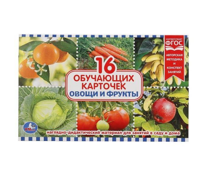Раннее развитие Умка Карточки Овощи и фрукты