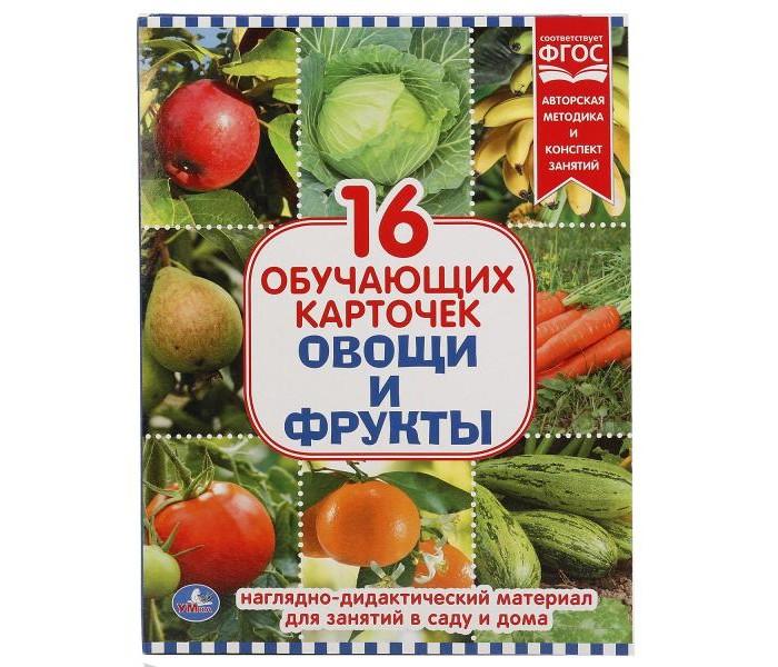 Раннее развитие Умка Обучающие карточки Овощи и фрукты умка обучающие карточки азбука и счет