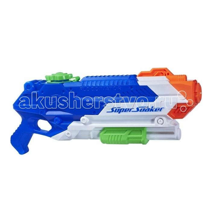 Игрушечное оружие Nerf Hasbro Водный бластер Супер Сокер Флудинатор hasbro nerf b4443 нерф супер сокер н2о волна бластер