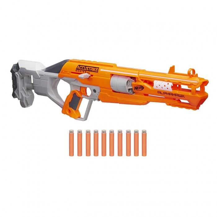 Игрушечное оружие Nerf Hasbro Эллит Аккустрайк Бластер Альфахок hasbro игрушка nerf бластер зомби двойная атака