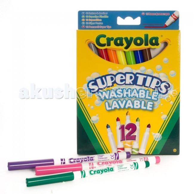 Фломастеры Crayola Супертипс 12 шт. crayola 12 тонких фломастеров супертипс