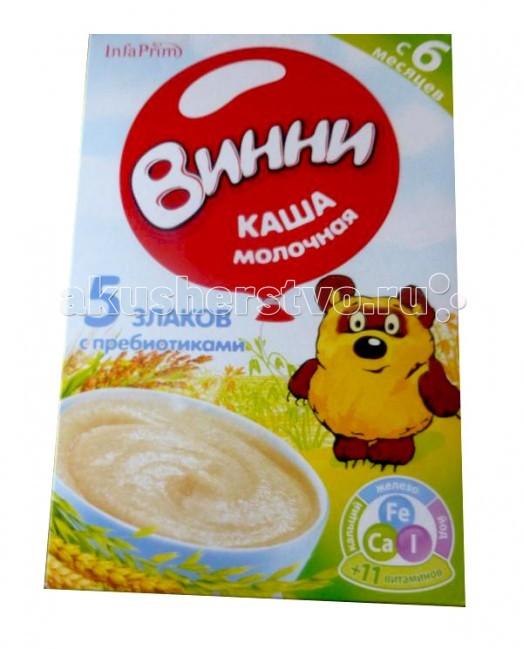 Каши Винни Молочная каша с пребиотиками 5 злаков tm chocolatte биотоник для лица аква баланс с пребиотиками 100 мл