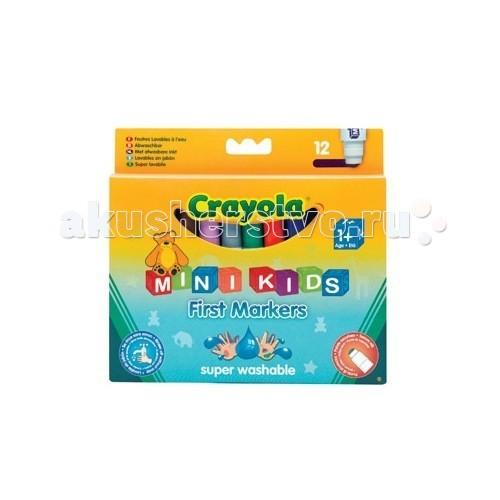 Фломастеры Crayola цветные для малышей 12 шт.