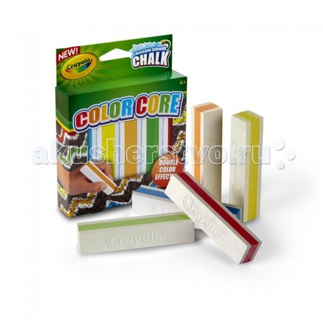 Мелки Crayola с цветным стержнем для асфальта 5 цветов набор crayola мел для асфальта 5шт 03 5801c