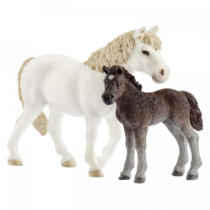 Игровые фигурки Schleich Кобыла пони и жеребенок игрушка schleich фигурка андалузская кобыла