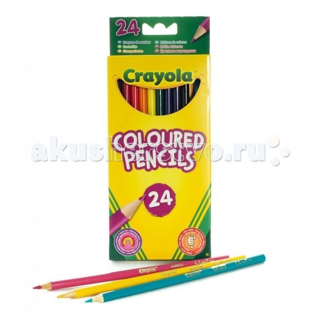Карандаши, восковые мелки, пастель Crayola Карандаши 24 цвета crayola мелки восковые треугольные смываемые 16 шт