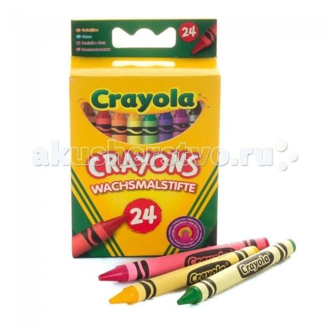 Карандаши, восковые мелки, пастель Crayola Мелки восковые 24 цвета crayola мелки восковые треугольные смываемые 16 шт