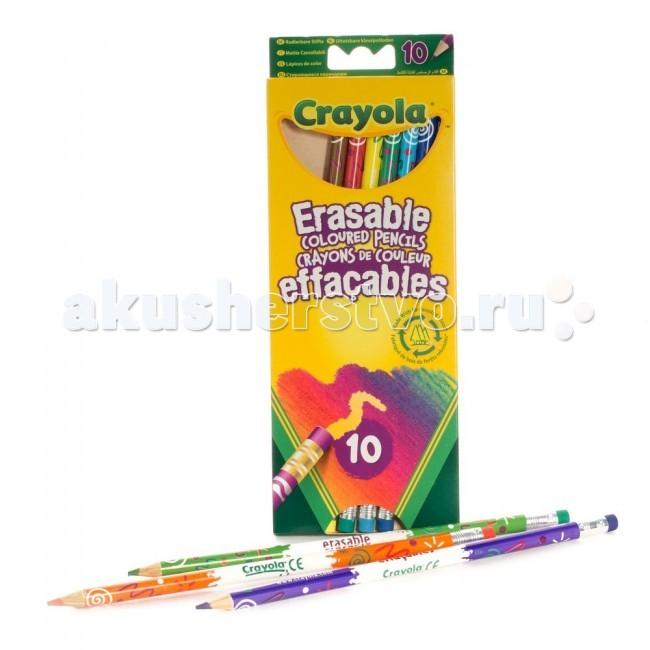 Crayola Набор из 10 цветных карандашей с корректорами