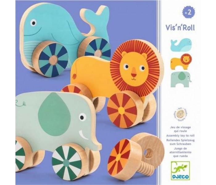Деревянные игрушки Djeco Развивающая Прикрути колёса