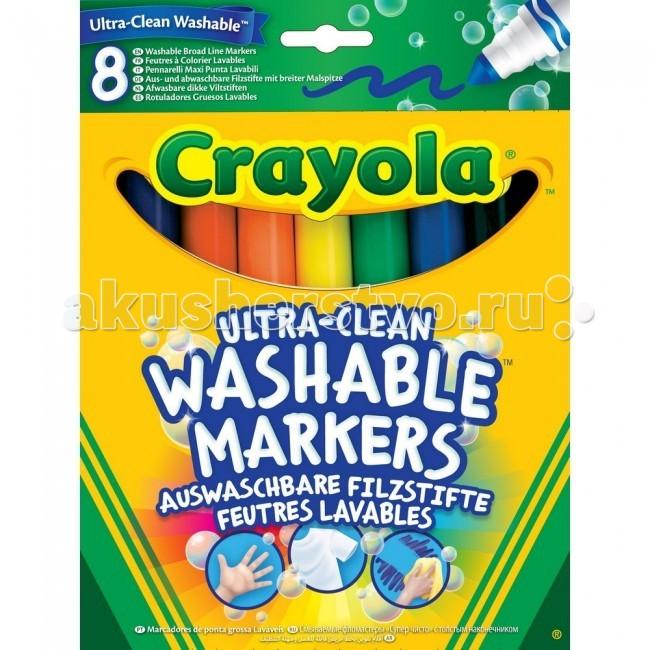 Фломастеры Crayola смываемые с толстым наконечником из серии Супер Чисто crayola мелки восковые треугольные смываемые 16 шт