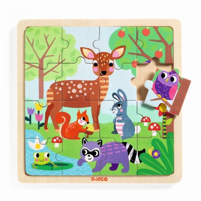Деревянные игрушки Djeco пазл Лето в лесу