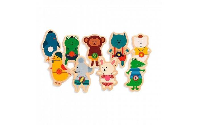 Фото - Деревянные игрушки Djeco Магнитная Ремешки драко михаил моделирование забавных животных из шариков