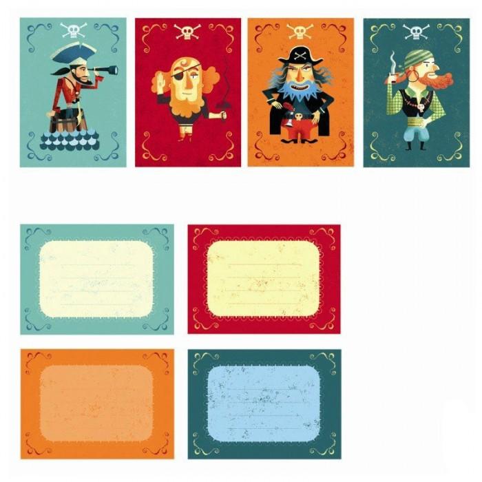 Картинка для Djeco Пригласительные открытки Пираты