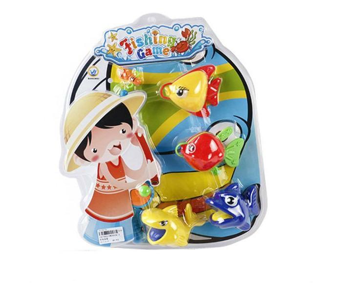 Игры для малышей Наша Игрушка Набор Рыбалка с крючком удочка и 4 фигурки интерактивная игрушка наша игрушка рыбалка с крючком удочка от 3 лет bw30035 2