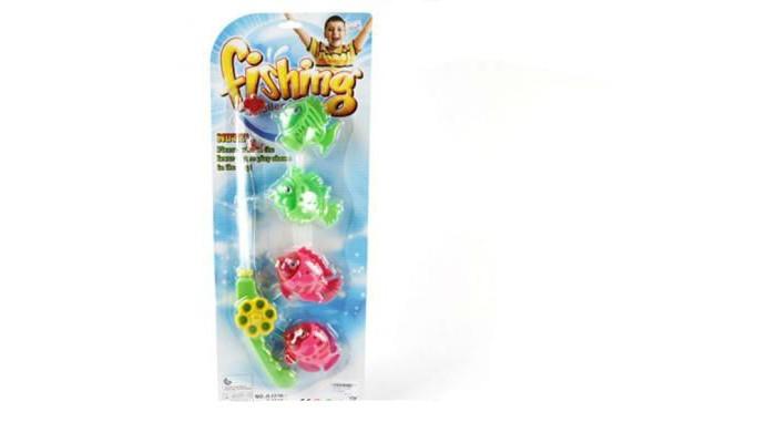 Игры для малышей Наша Игрушка Набор рыбалка удочка 4 рыбки BW30036-4