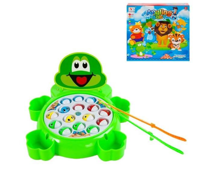 Игры для малышей Наша Игрушка Рыбалка электронная Лягушонок интерактивная игрушка наша игрушка рыбалка с крючком удочка от 3 лет bw30035 2